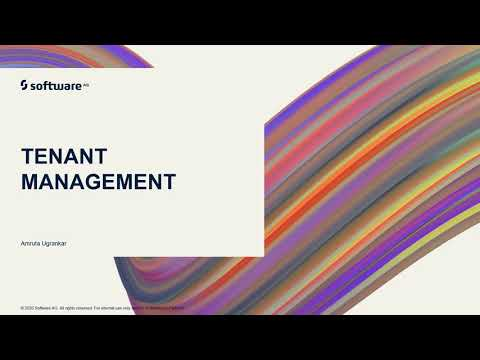 webMethods.io Integration Tutorials - Tenant Management