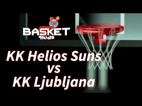 BASKET 4 KIDS   KK Ljubljana - KK Helios Suns   Basket4Kids Domžale