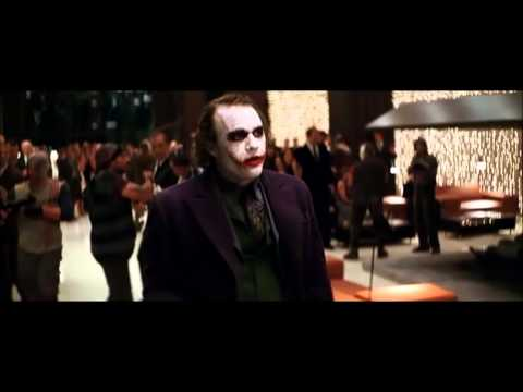 "Famous Movie Scene: The Dark Knight ""Joker Crashes The Party"" HD"