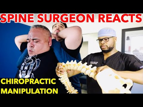 Spine Surgeon Reacts To Chiropractic Manipulation | Is Cracking Your Neck/Back Bad?