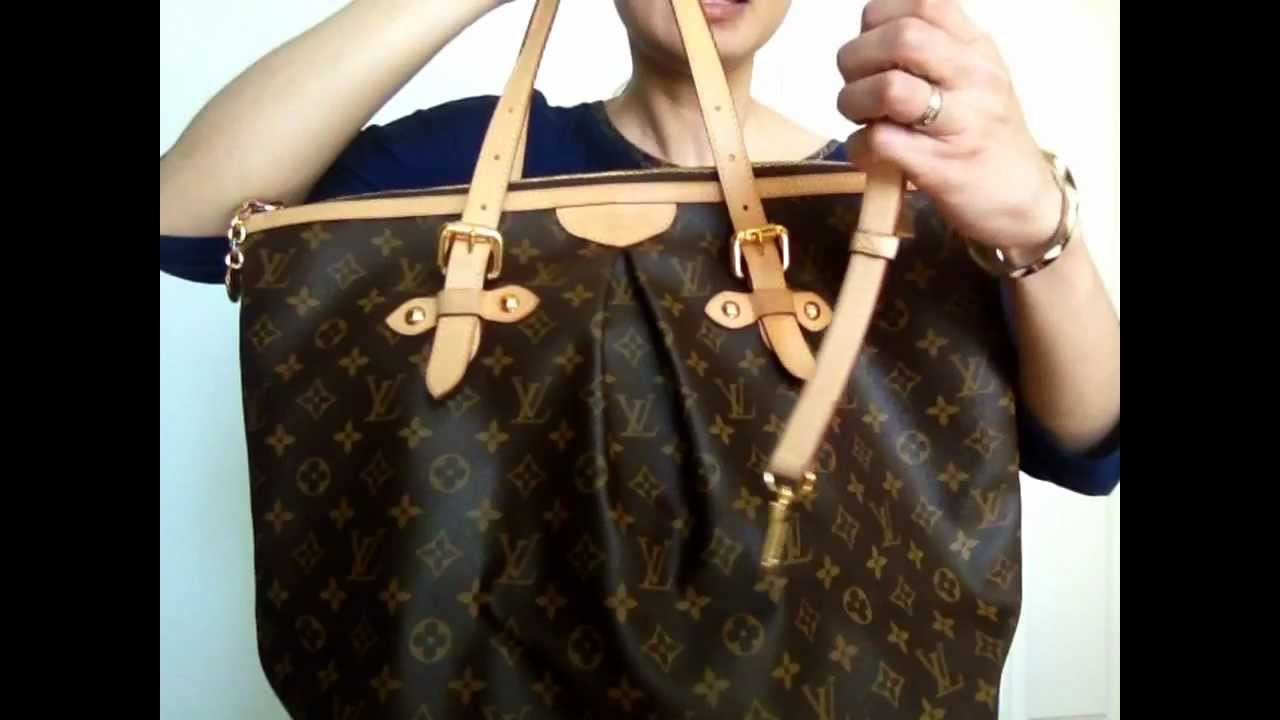 Louis Vuitton Tivoli Vs Palermo รววกระเปาหลยส Louis Vuitton Palermo Gm In Thai Funnycat Tv