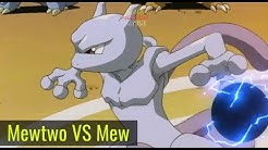 Mewtwo VS Mew | Ash Turn Into Stone Full Pokemon Movie Battle