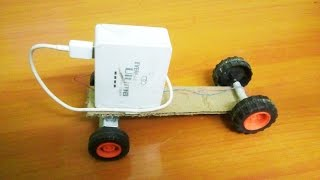 How To Make Mini Truck  With power Bank And Card Board