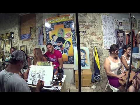 Bodrum Barlar Sokağı - Main & Bar's Street  City Centre Town of Bodrum & Steadycam Handhel Gimbal