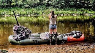 Рыбалка с Женой с Ночёвкой в Деревне