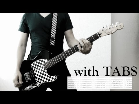 Skillet - Comatose Guitar Cover w/Tabs on screen