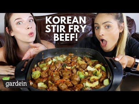 KOREAN STIR FRY BEEF TIPS! Playing