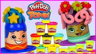 Play Doh Town 💇 Kolorowe szalone fryzury 💇 bajka po polsku