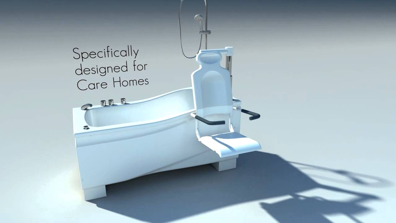 Active Bathing Compact Plus height adjustable bath with seat by ...