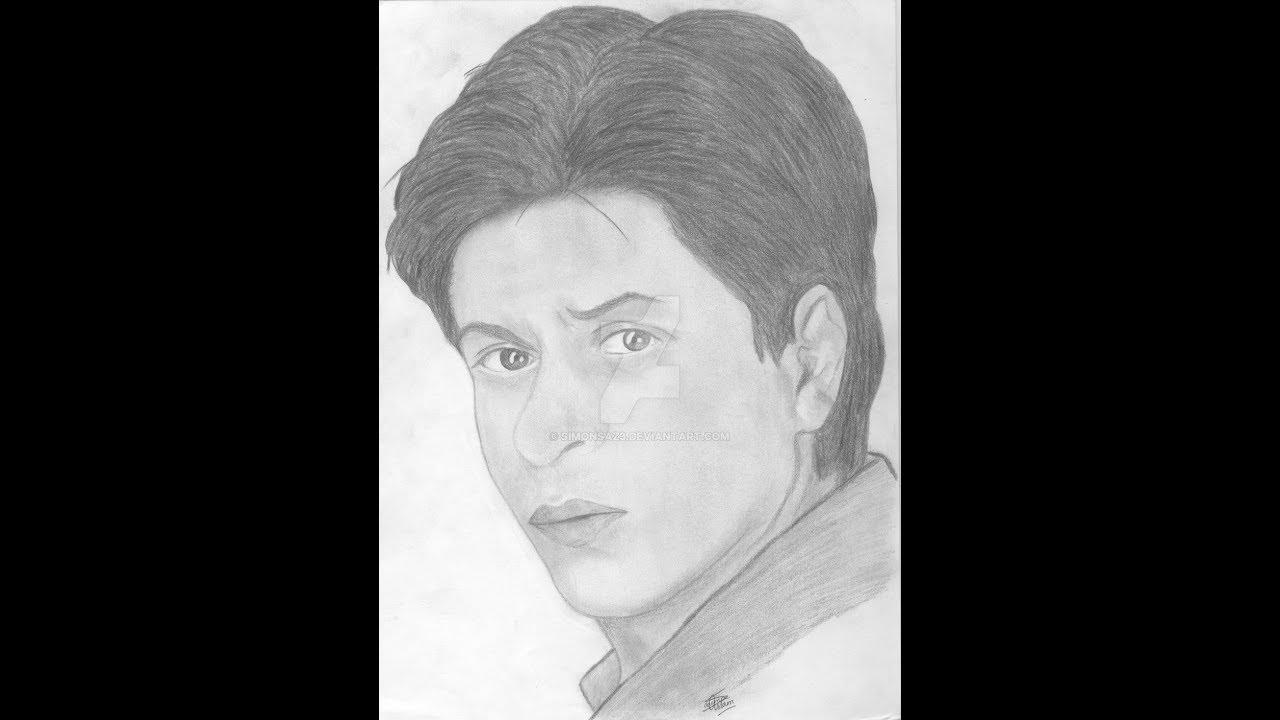Shahrukh khan pencil sketches