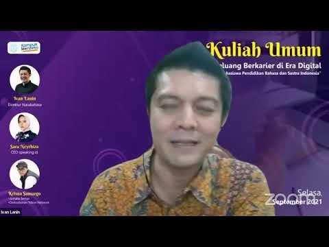 Kuliah Umum Mahasiswa Pendidikan Bahasa dan Sastra Indonesia UNS