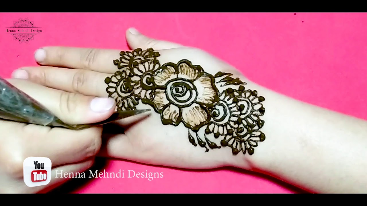 Amazing Step by Step Eid Henna Mehndi Designs Tutorial - Latest Eid Henna Mehndi Designs 2020