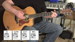 The Long and Winding Road - Acoustic Guitar - The Beatles - Lesson