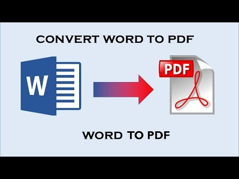 how to convert word to pdf file in ms office 2017