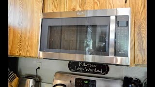 Whirlpool Over The Range Microwave Oven (Model WMH53520C5) 2.0 and 1000 watts Quick Review