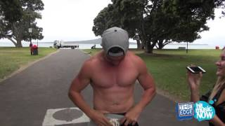 Repeat youtube video New Breakfast co-host Clinton Randell does a SKINNY DIP!