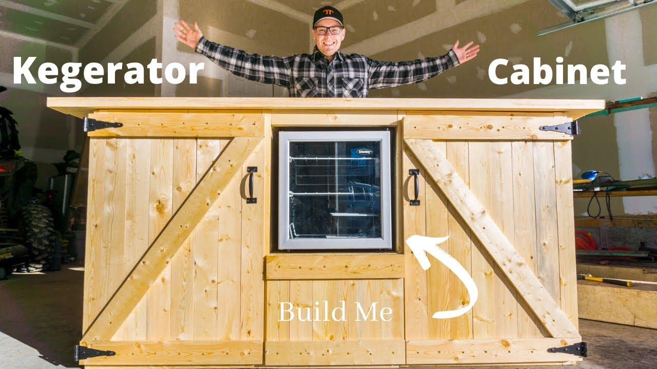 Kegerator Cabinet Build- Have your very own DIY bar - YouTube