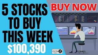 Top 5 Stocks T๐ BUY This Week! HUGE Earnings & Product Launches Coming Soon!