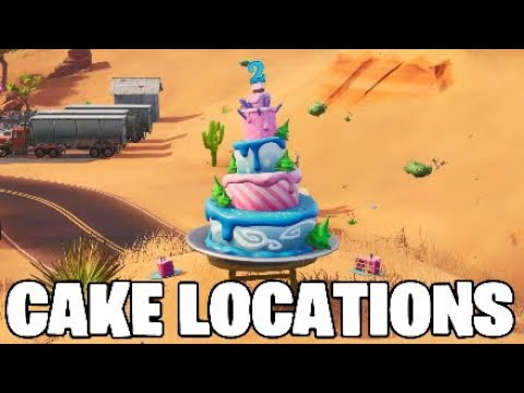 Fortnite Birthday Cake Locations.All 10 CAKE LOCATIONS