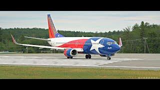 "Southwest ""Lone Star One"" Takeoff @ MHT"
