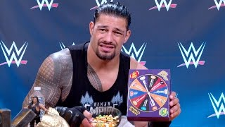 WWE Superstars including Roman Reigns, Seth Rollins, Enzo Amore and more take their chances on potentially eating horribly flavored jelly beans in the ...