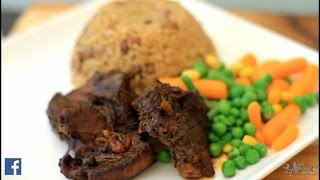 Jamaican Jerk Pork Recipe With Rice & Peas Food | Recipes By Chef Ricardo