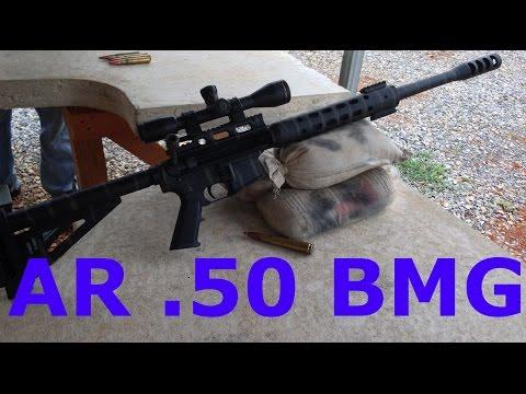 AR 15 with  50 Cal Barrel !!!! - YouTube