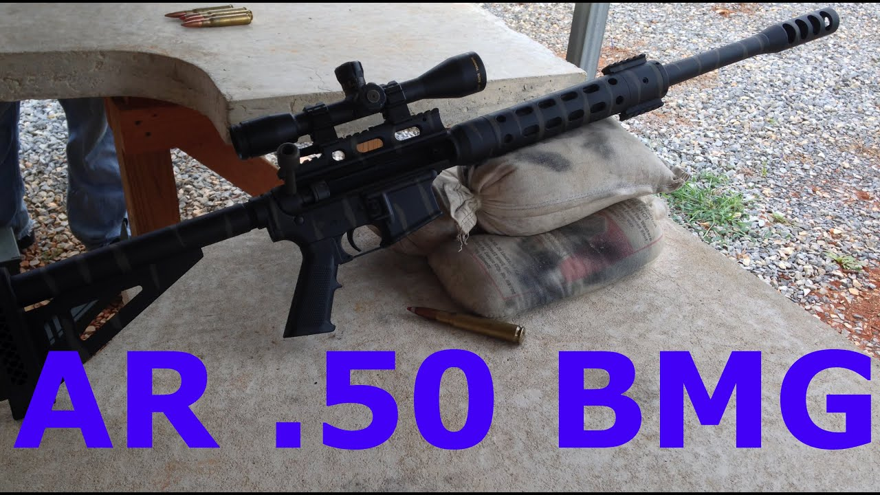 år 50 AR 15 with .50 Cal Barrel !!!!   YouTube år 50