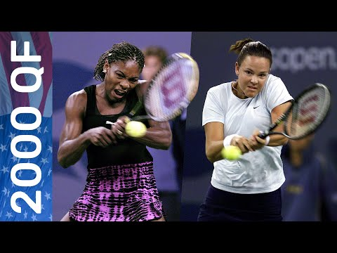 Lindsay Davenport Halts Serena Williams' Title Defense In Style!   US Open 2000 Quarterfinal