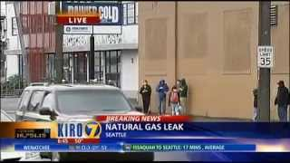 Gas Leak causes closure of Seattle Streets