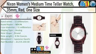 Nixon Women's Medium Time Teller Watch, 35mm, Red, One Size watch