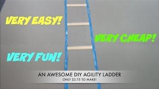 DIY EASY SPEED AGILITY LADDER UNDER 5 BUCKS !!!