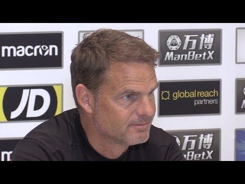 Frank de Boer Full Pre-Match Press Conference - Burnley v Crystal Palace - Premier League