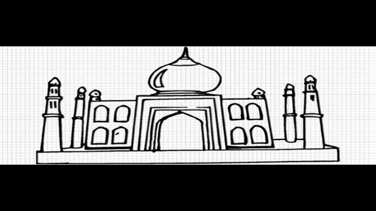 how to draw taj mahal agra india video easy drawing for kids youtube - Kids Drawing Sites