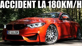 Accident Filmat la 180km/h cu BMW E60