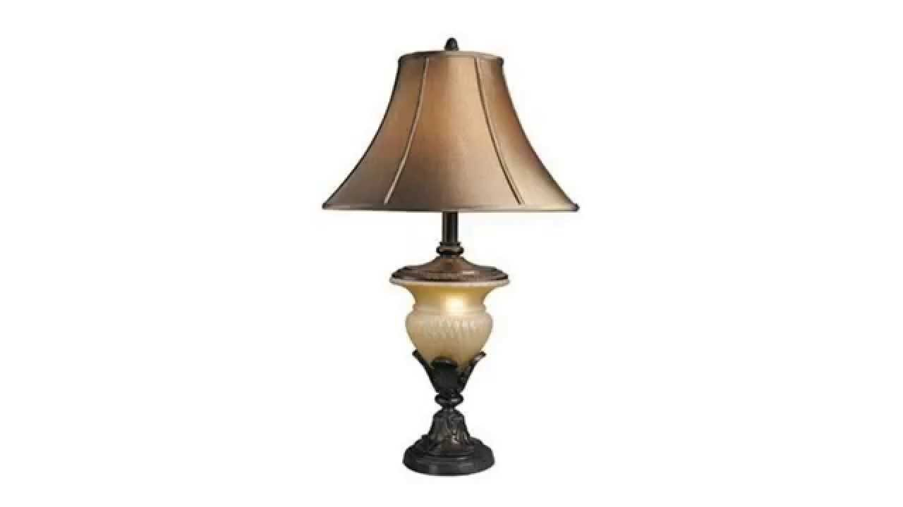 Ashley l530944 traditional beige and bronze danielle table for Magnarp table lamp youtube