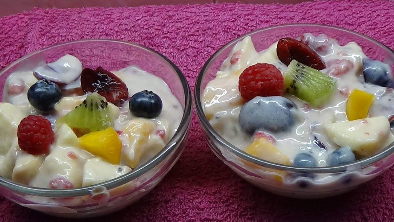 Macedonia Con Fruta Y Yogur