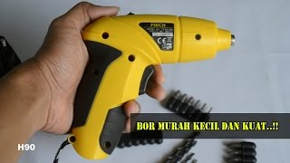 Bor/Obeng murah kecil dan kuat...!!!! Cordless screwdriver FISCH | Indonesia