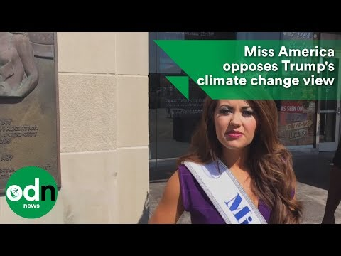 Miss America opposes Trump's climate change view