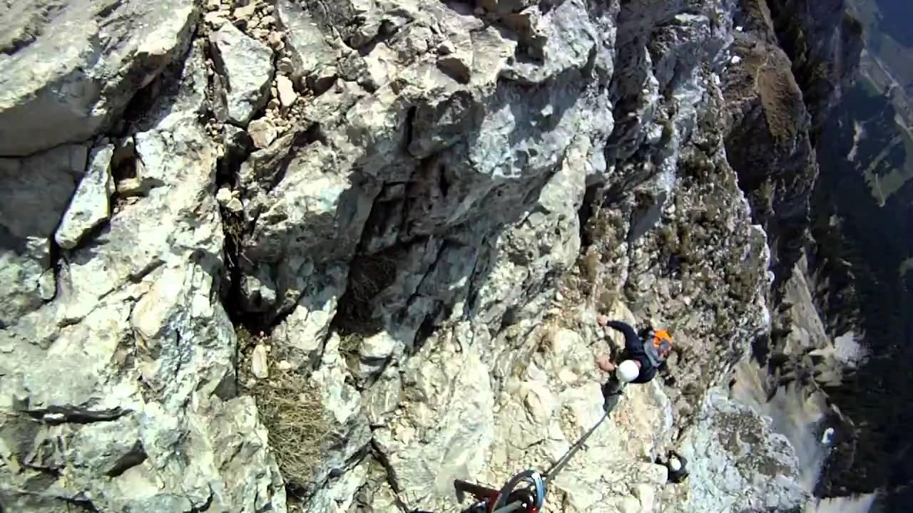 Friedberger Klettersteig : Friedberger klettersteig youtube