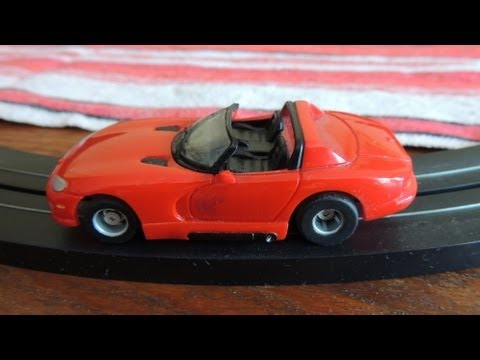 Testing Tyco slot car Dodge Viper