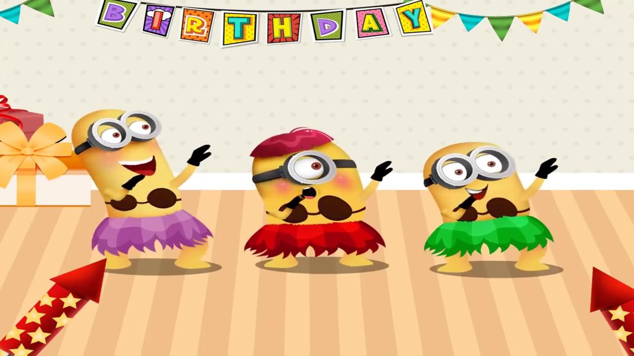 Minions Happy Birthday Happy Birthday Song Funny For Kids Youtube 2 Youtube