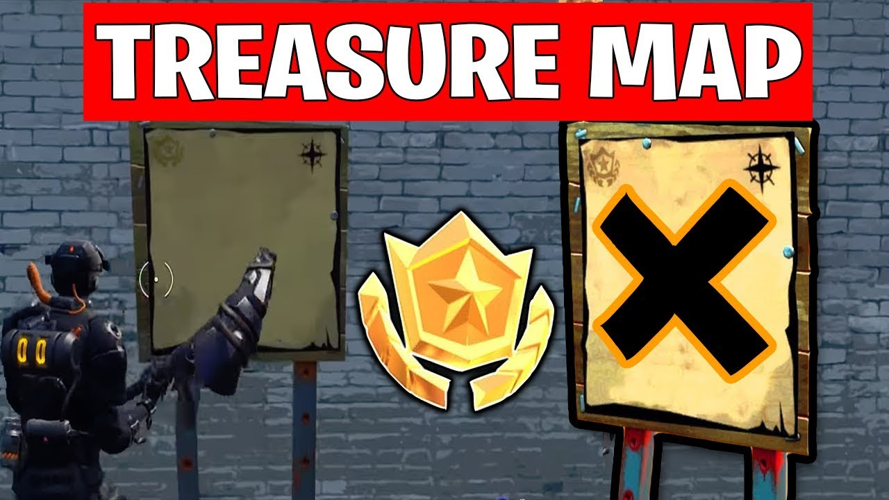 Search The Treasure Map Signpost Found In Paradise Palms In