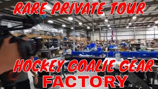 VLOG - Private tour in goalie gear factory - CUSTOM VAUGHN HOCKEY PADS - RARE gear!