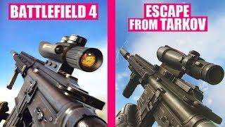 Battlefield 4 vs Escape from Tarkov Weapons Comparison