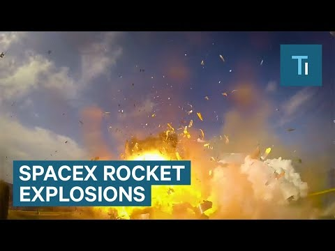 SpaceX released epic explosion footage of rocket landings