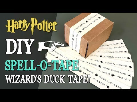 DIY Spell-O-Tape - Harry Potter Wizard's Duck Tape