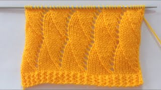 Beautiful Knitting Stitch Pattern For Ladies Sweater/Shawl/Scarf