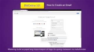 كيفية إنشاء بريد إلكتروني - BW على الانترنت 101