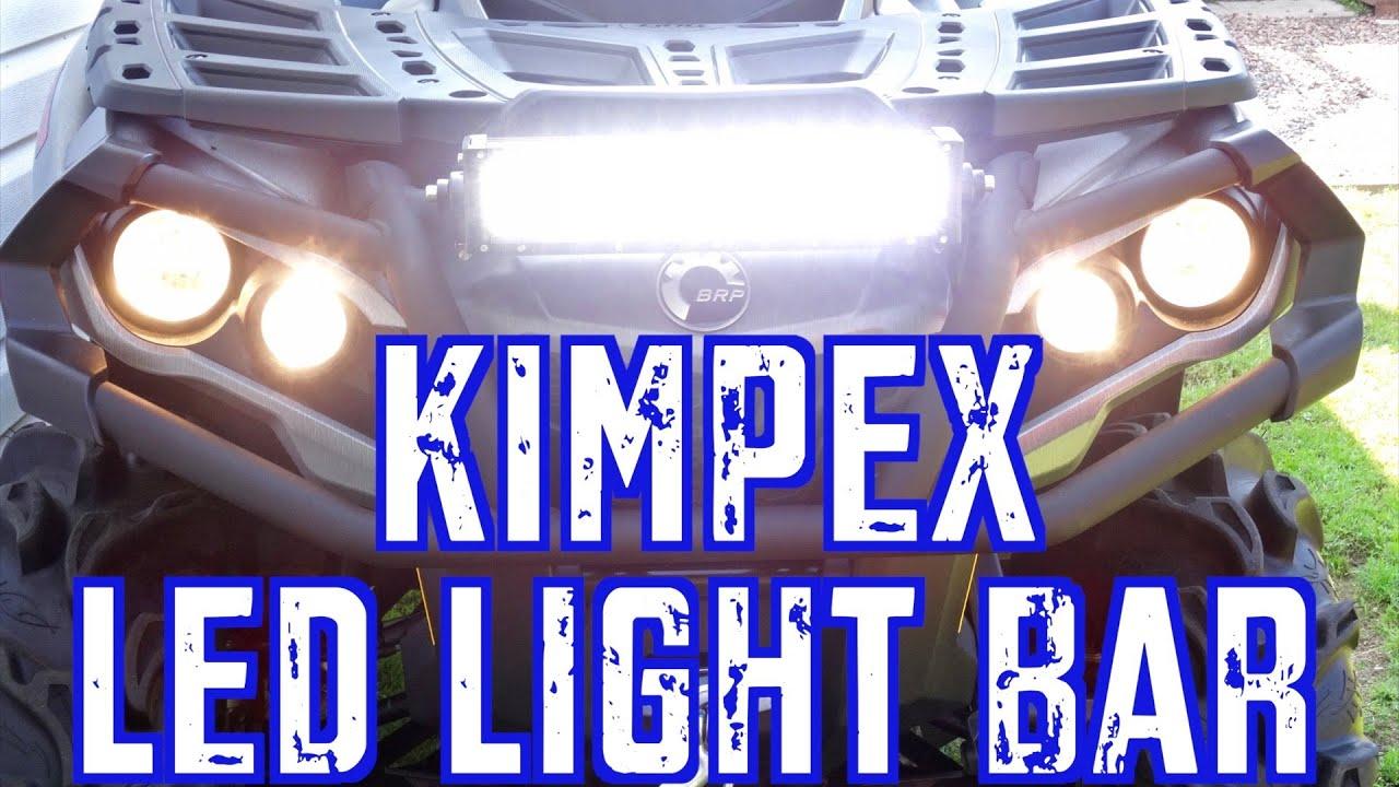 2015 can am outlander xt 1000 trail build kimpex 14 led light bar 2015 can am outlander xt 1000 trail build kimpex 14 led light bar install youtube aloadofball Gallery